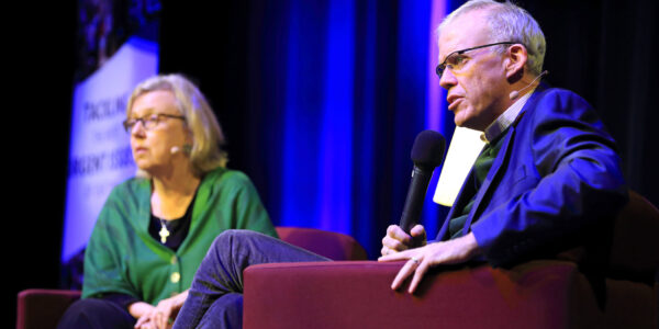 Bill McKibben with Moderator Elizabeth May
